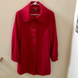 Guess Red Peacoat Sz L~ Excellent Condition!!!